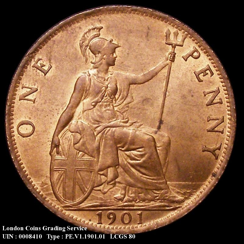 Penny 1901 Victoria. Standard type - Reverse