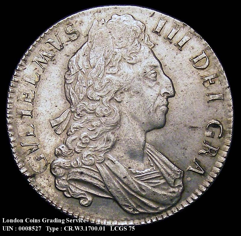 Crown 1700 William III. DVODECIMO - Obverse