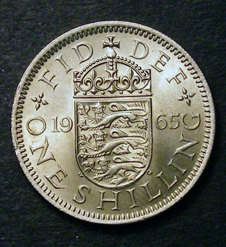 Shilling 1965 Elizabeth II. English - Reverse