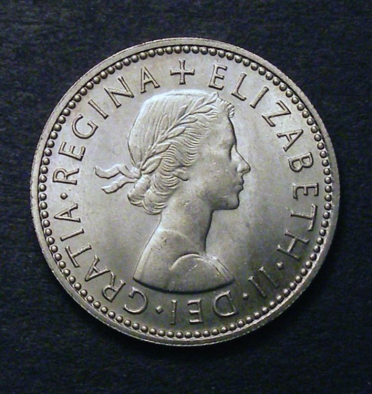 Shilling 1958 Elizabeth II. Scottish - Obverse