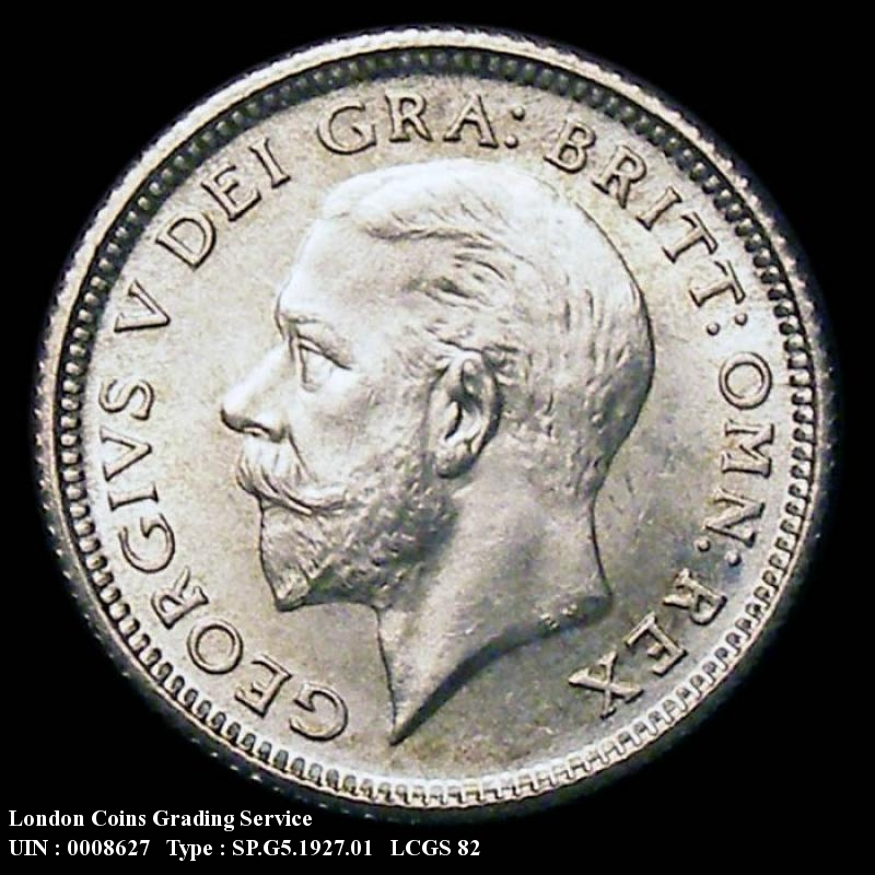 Sixpence 1927 George V. First Reverse. - Obverse