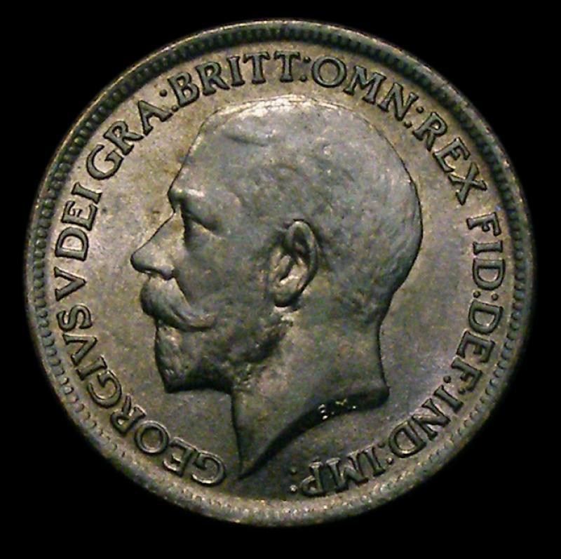 Farthing 1917 George V. Dies 2+A - Obverse