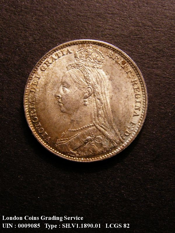 Shilling 1890 Victoria. Standard type - Obverse
