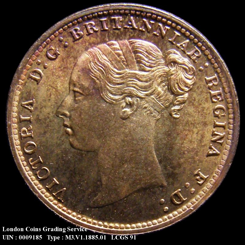 Maundy 3d 1885 Victoria. Standard type - Obverse