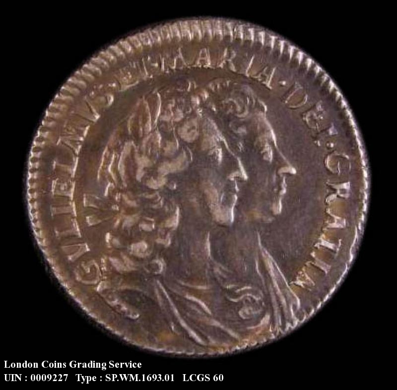 Sixpence 1693 William and Mary. Standard type - Obverse