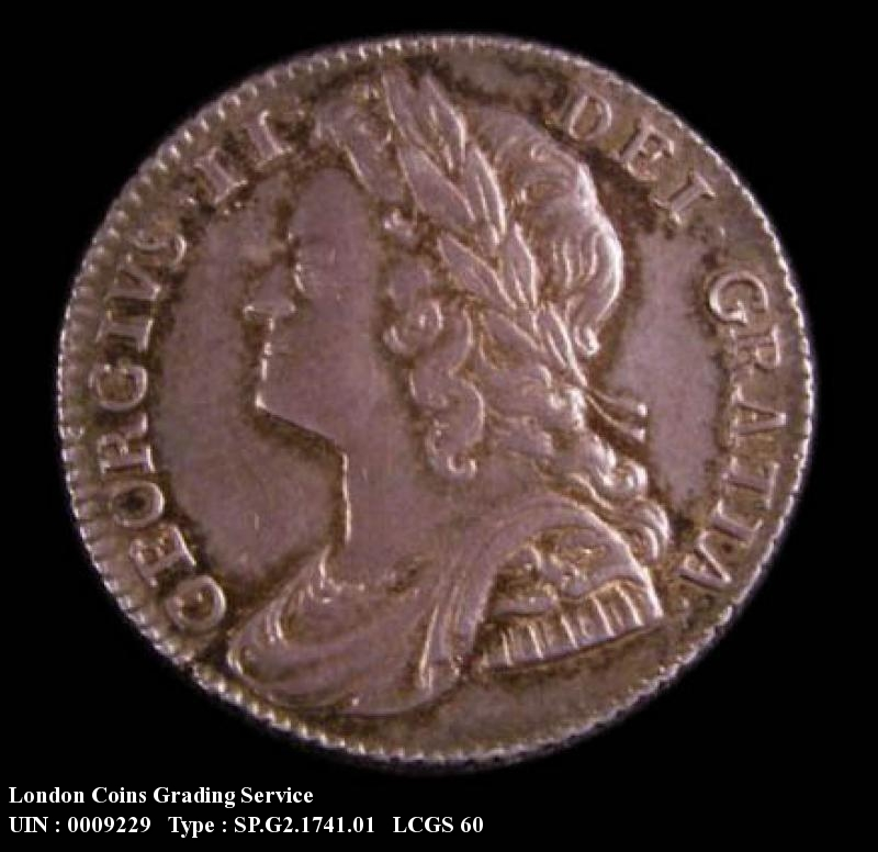 Sixpence 1741 George II. Roses - Obverse