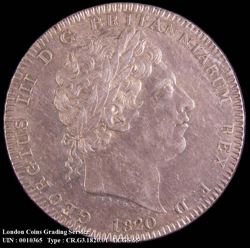 Crown 1820 George III. LX edge - Obverse