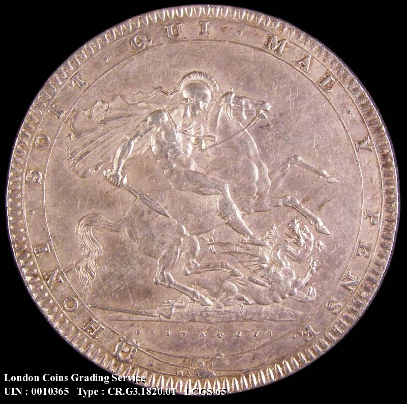 Crown 1820 George III. LX edge - Reverse
