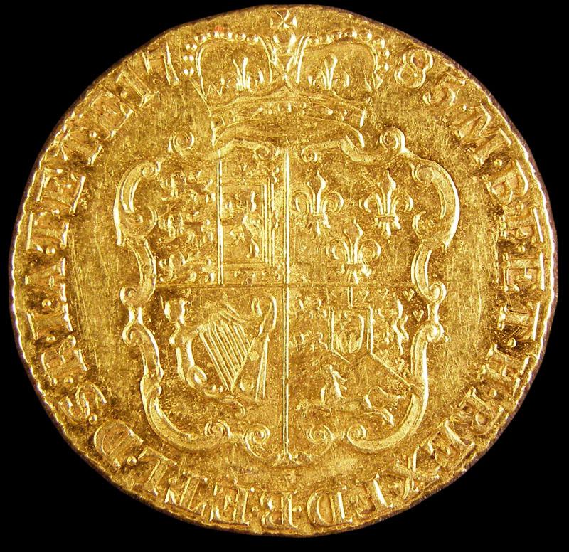 Guinea 1785 George III. Standard type - Reverse
