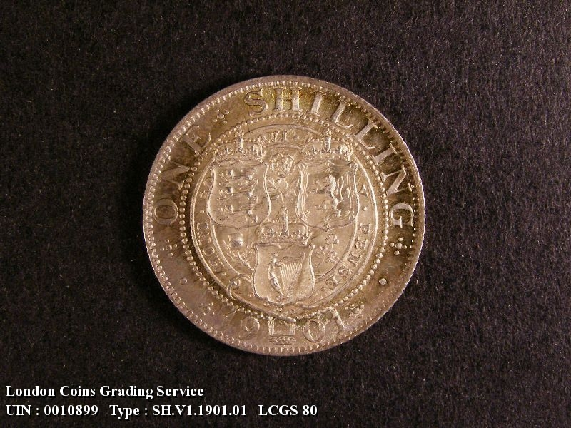 Shilling 1901 Victoria. Standard type - Reverse