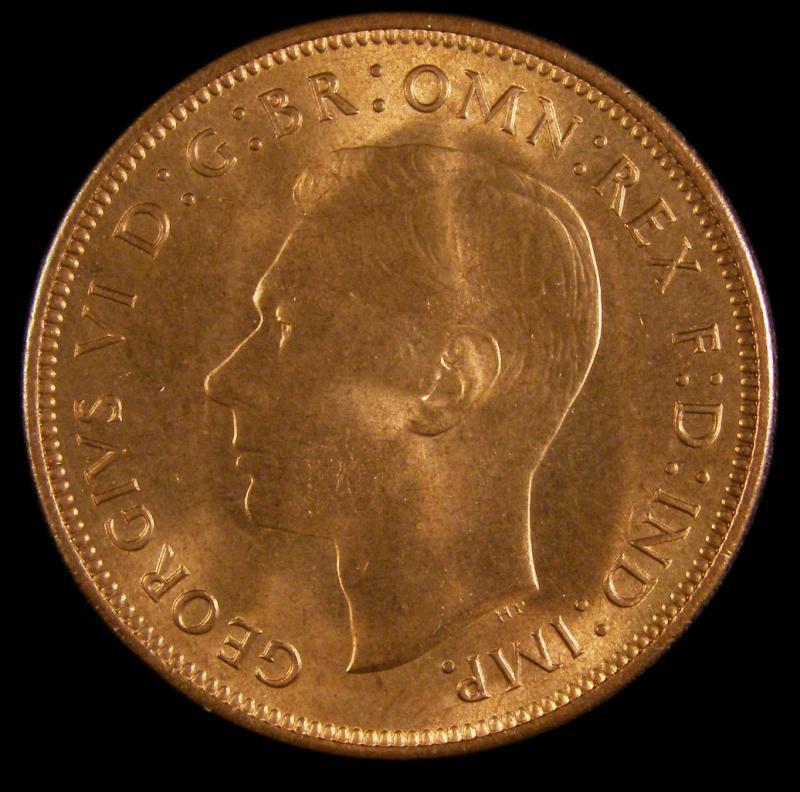 Penny 1947 George VI. Dies 2+C - Obverse