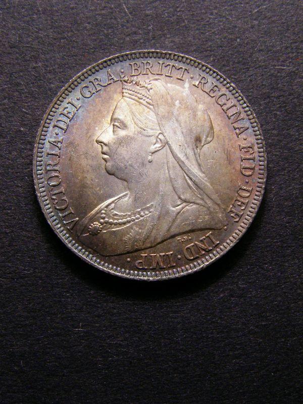 Shilling 1896 Victoria. Large Rose - Obverse