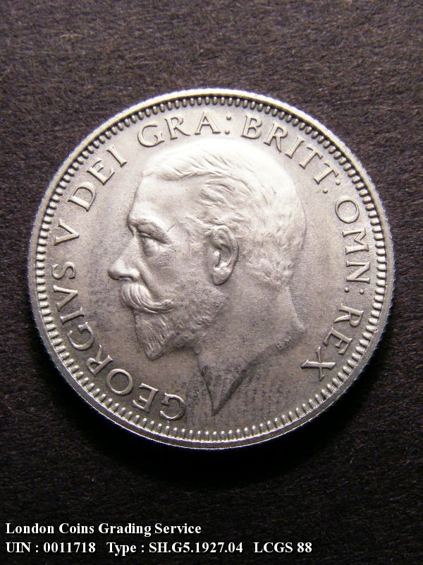 Shilling 1927 George V. Second Reverse Proof - Obverse