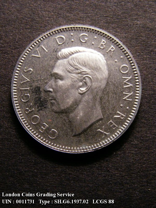 Shilling 1937 George VI. English. Proof - Obverse
