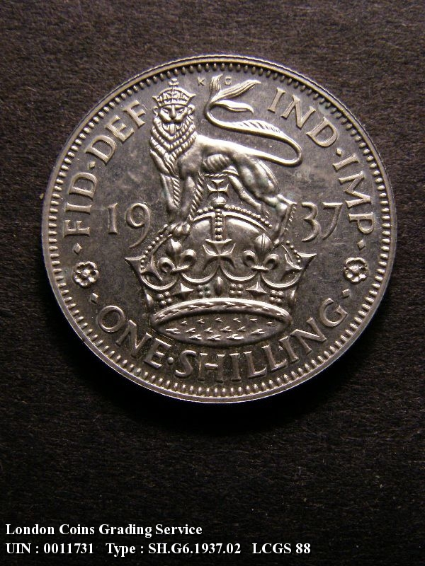 Shilling 1937 George VI. English. Proof - Reverse