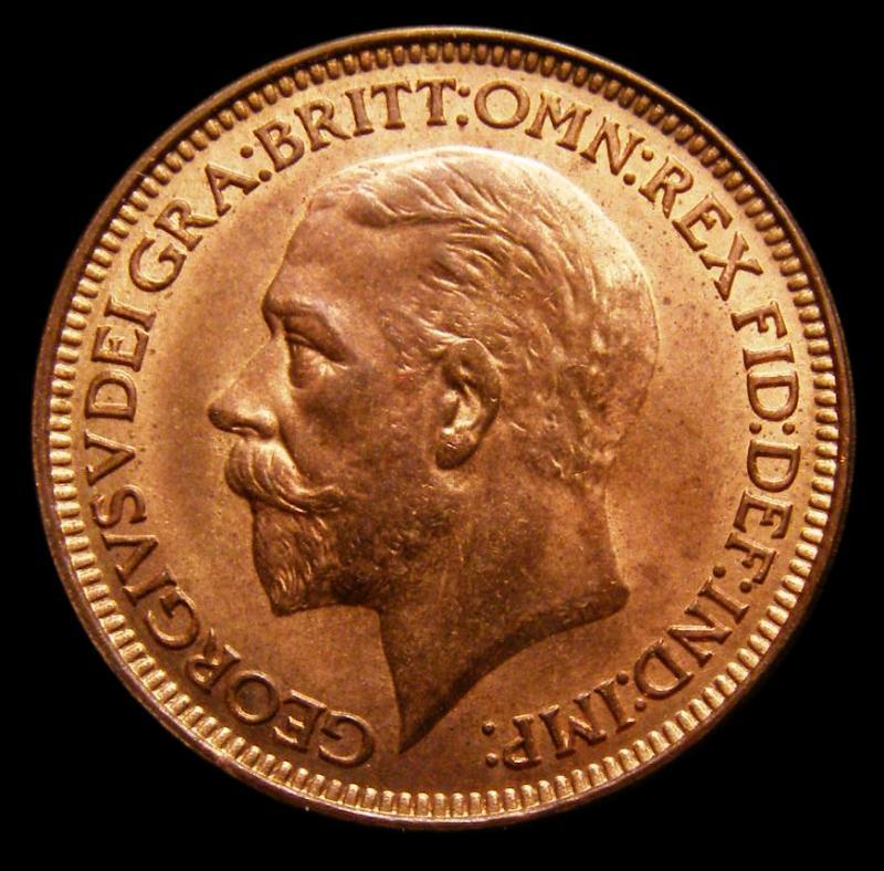 Farthing 1927 George V. Dies 3+B - Obverse