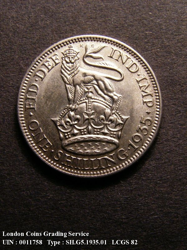Shilling 1935 George V. Standard type - Reverse