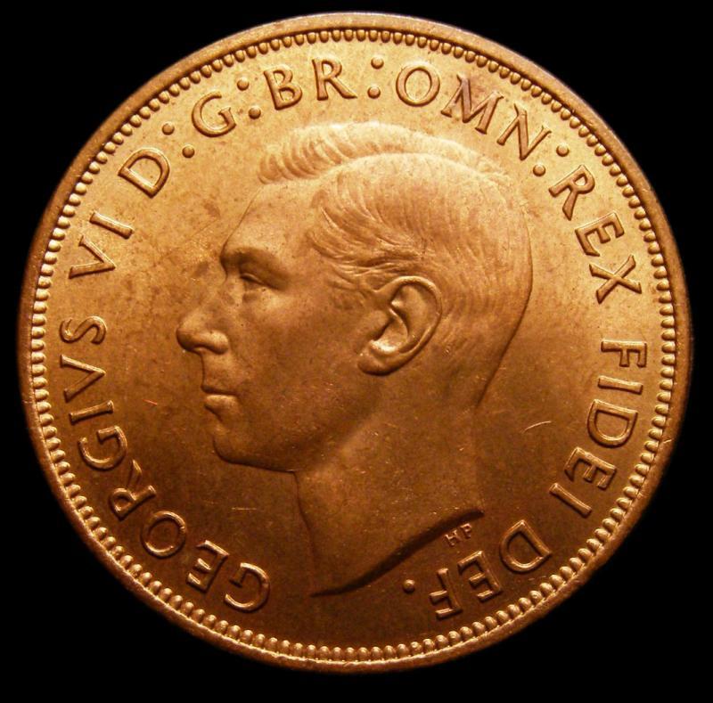 Penny 1951 George VI. dies 3+C - Obverse