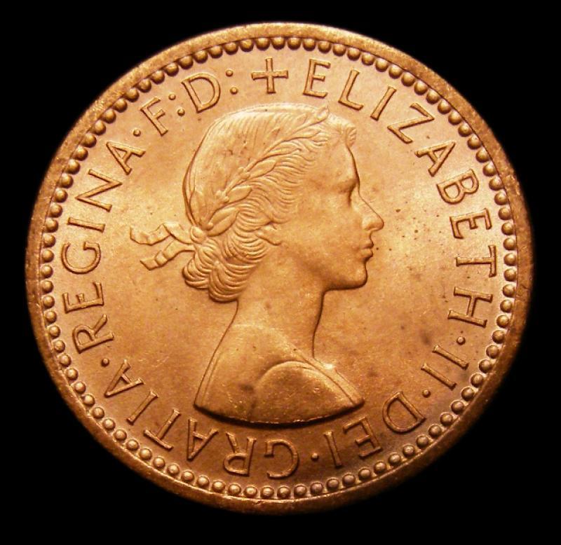 Farthing 1954 Elizabeth II. Dies 3+C - Obverse