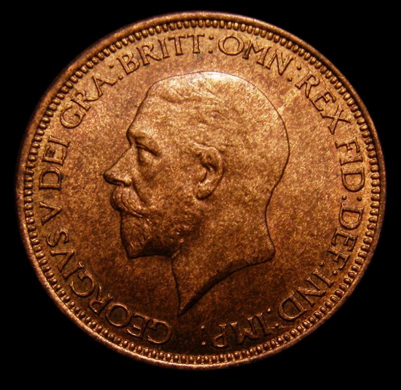 Halfpenny 1930 George V. dies 3+B - Obverse