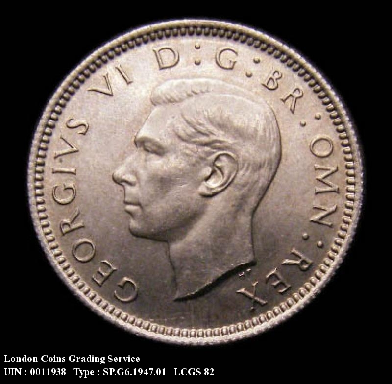 Sixpence 1947 George VI. Standard type - Obverse