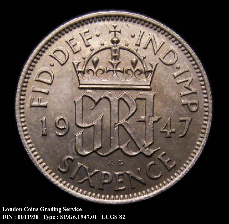 Sixpence 1947 George VI. Standard type - Reverse
