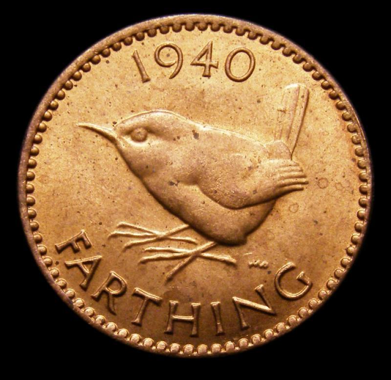 Farthing 1940 George VI. Dies 1+A - Reverse