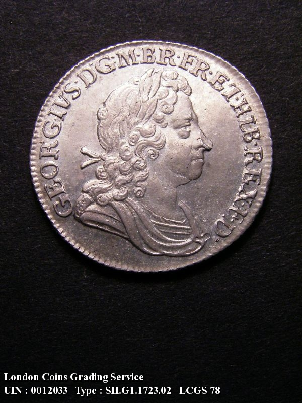 Shilling 1723 George I. SSC. First Bust - Obverse
