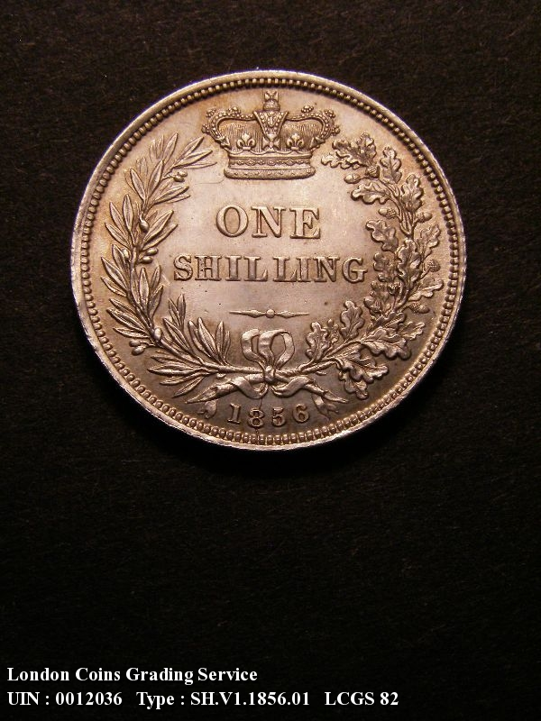 Shilling 1856 Victoria. Standard type - Reverse