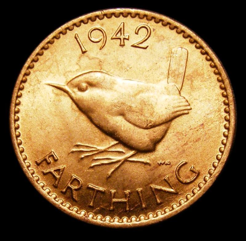 Farthing 1942 George VI. Dies 1+A - Reverse