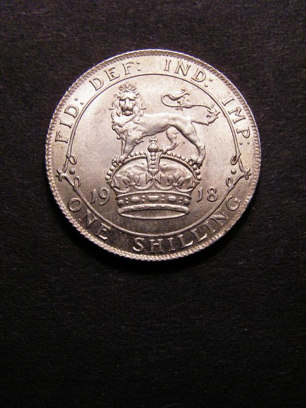Shilling 1918 George V. Standard type - Reverse