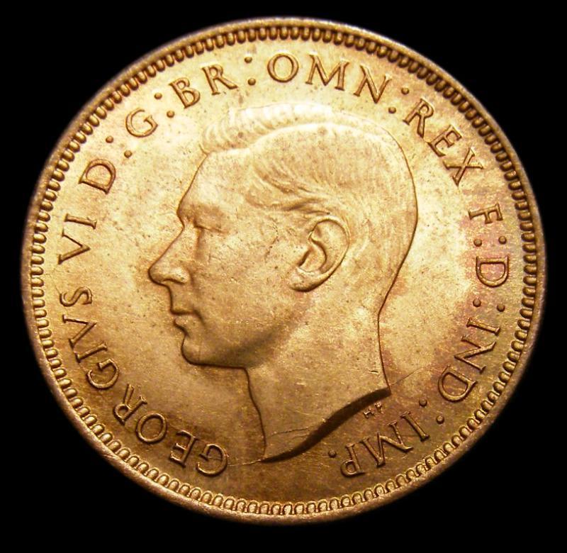 Farthing 1939 George VI. Dies 1+A. - Obverse