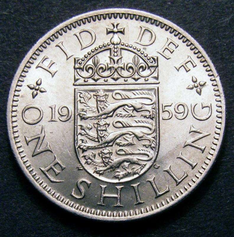 Shilling 1959 Elizabeth II. English - Reverse