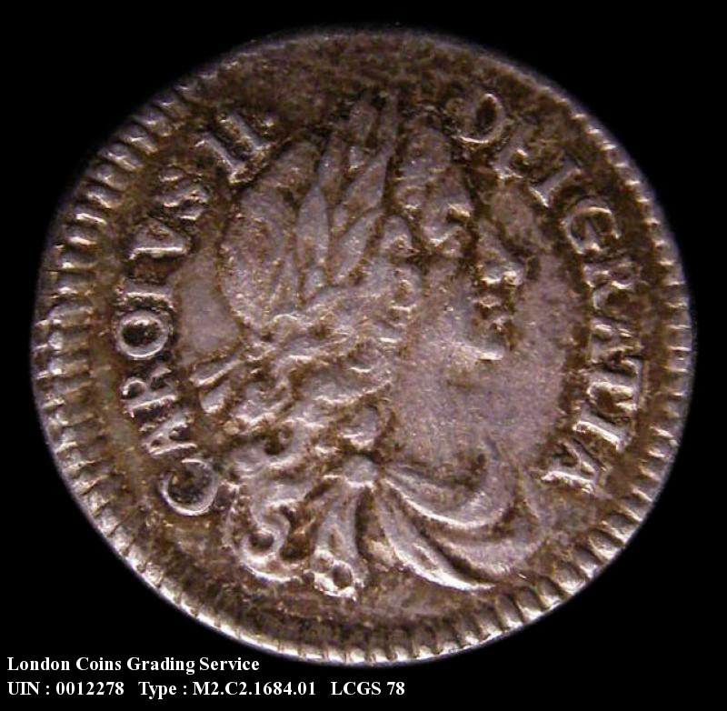 Maundy 2d 1684 Charles II. Standard type - Obverse