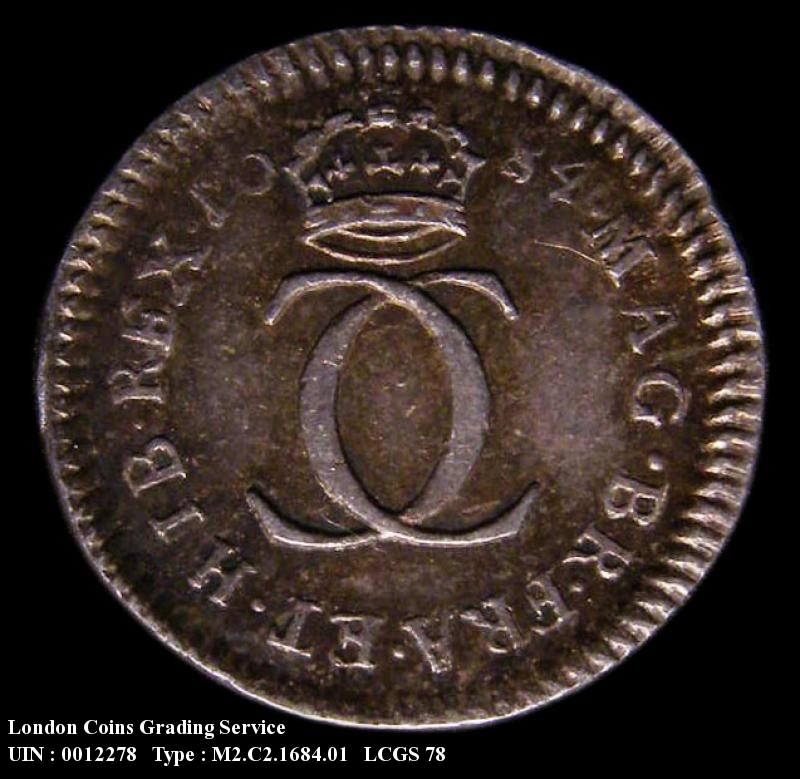 Maundy 2d 1684 Charles II. Standard type - Reverse