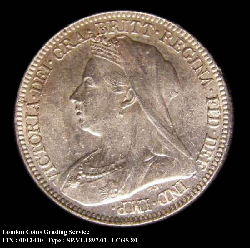 Sixpence 1897 Victoria. Standard type - Obverse