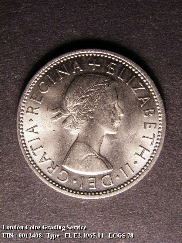 Florin 1965 Elizabeth II. - Obverse