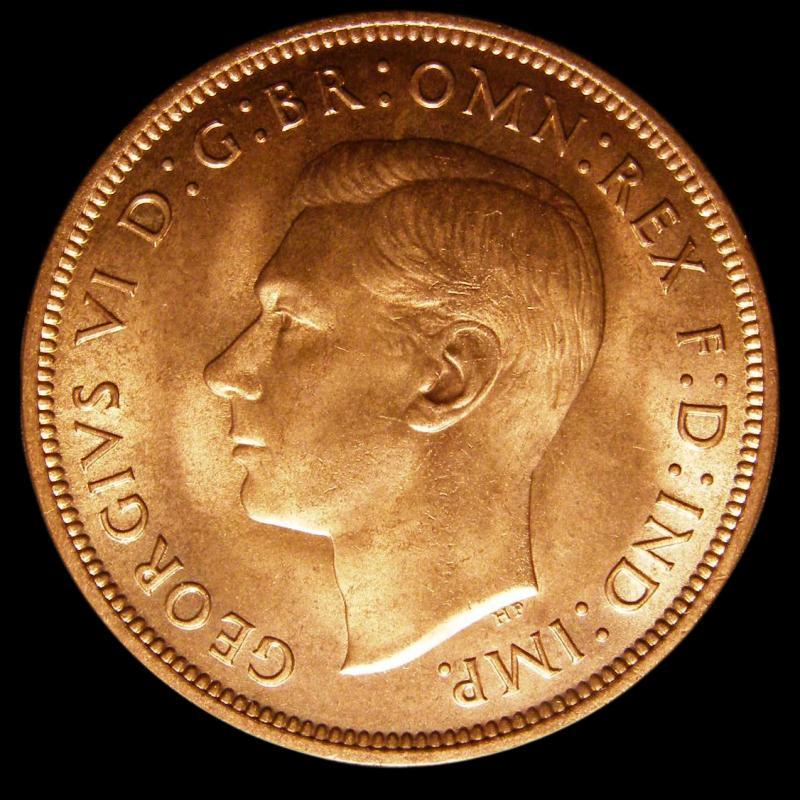 Penny 1939 George VI. Dies 2+B - Obverse