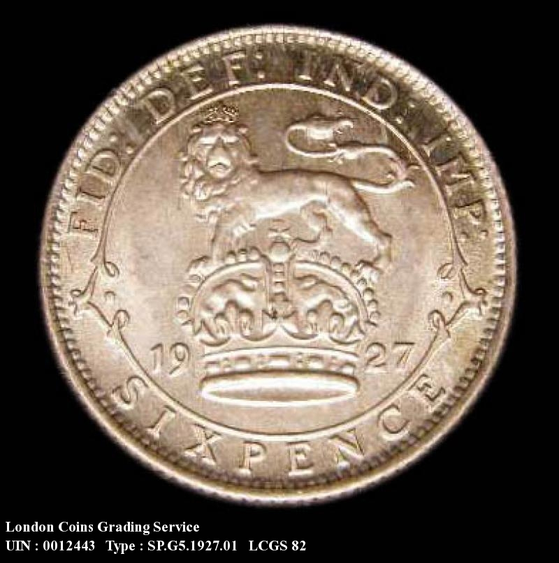 Sixpence 1927 George V. First Reverse. - Reverse