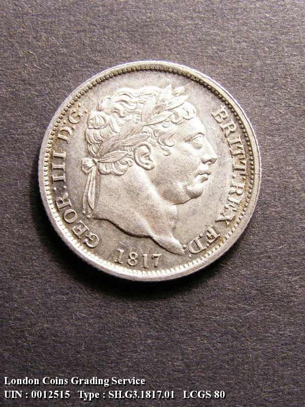 Shilling 1817 George III. Standard type - Obverse