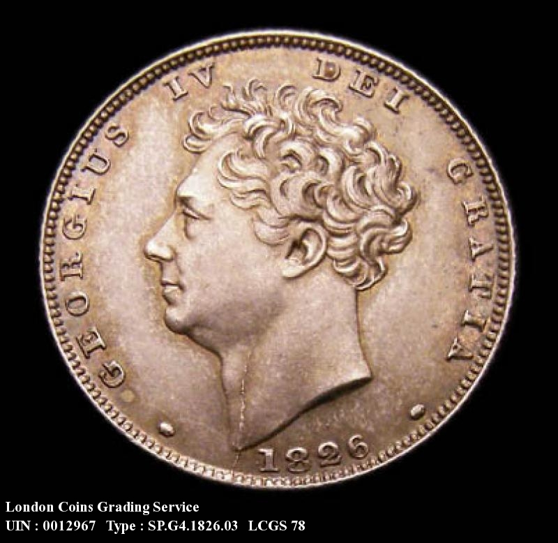 Sixpence 1826 George IV. Lion on Crown Reverse - Obverse