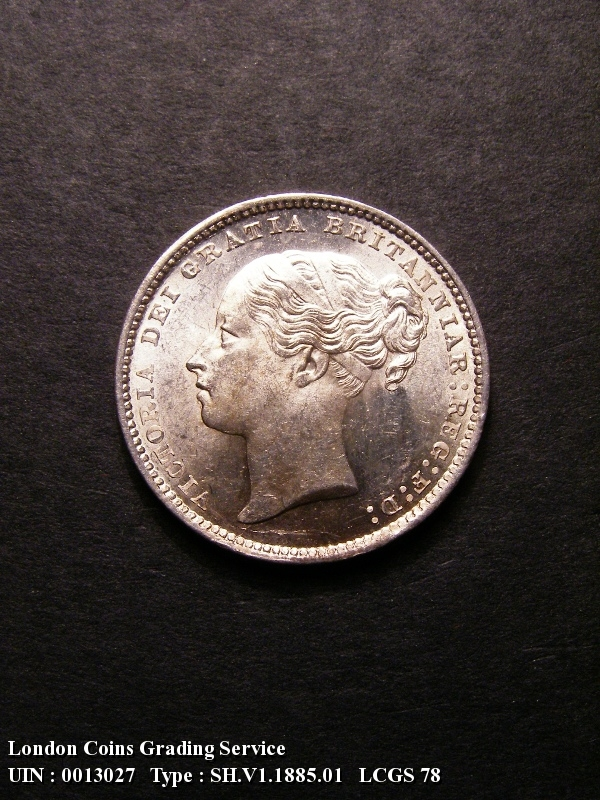 Shilling 1885 Victoria. Standard type - Obverse