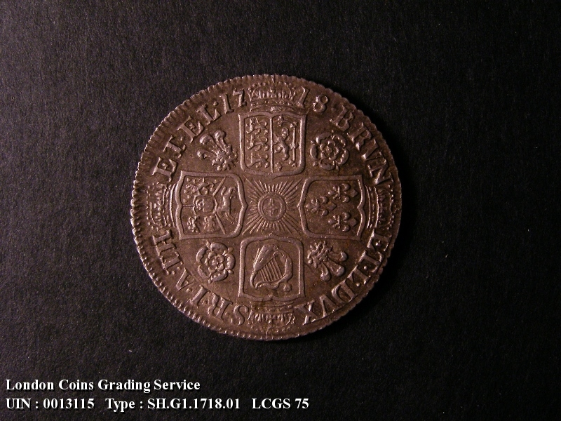 Shilling 1718 George I. Roses and Plumes - Reverse