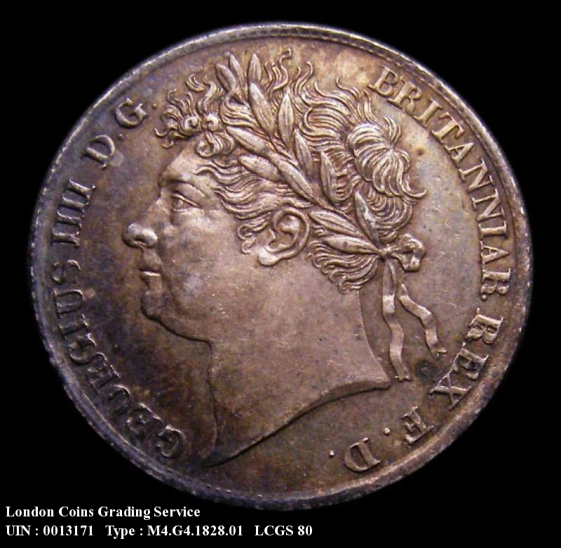 Maundy 4d 1828 George IV. Standard type - Obverse