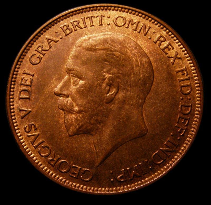 Penny 1928 George V. Dies 5+C - Obverse