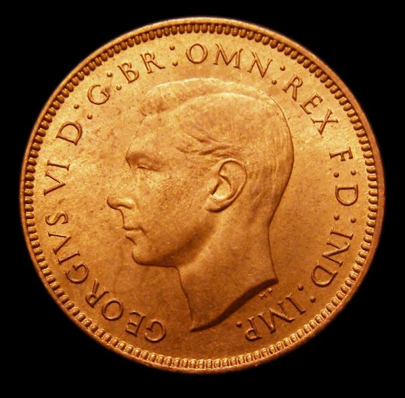 Farthing 1948 George VI. Dies 1+A - Obverse