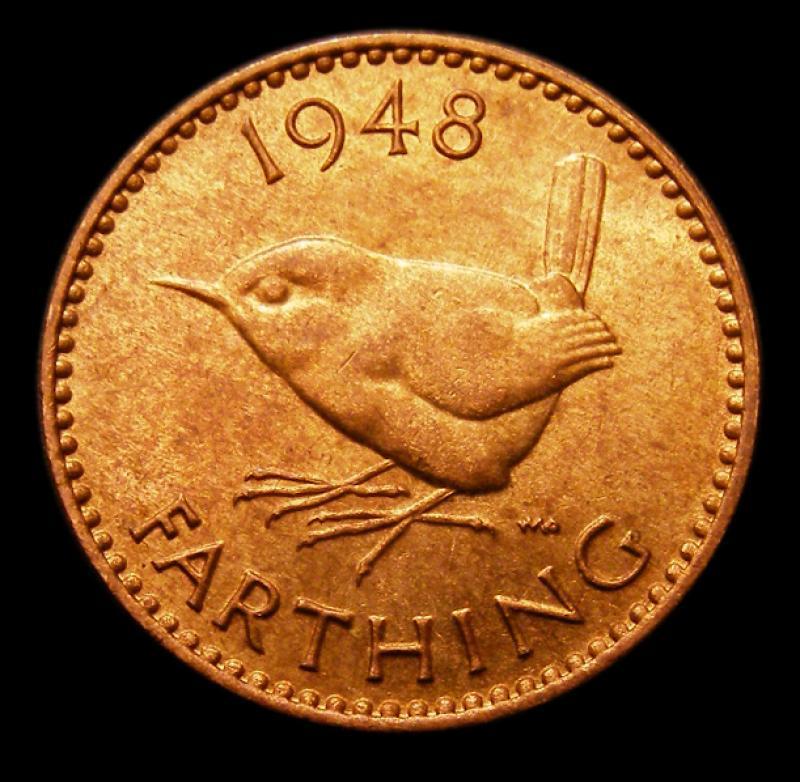 Farthing 1948 George VI. Dies 1+A - Reverse