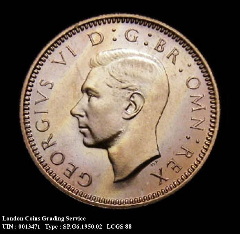 Sixpence 1950 George VI. Proof - Obverse
