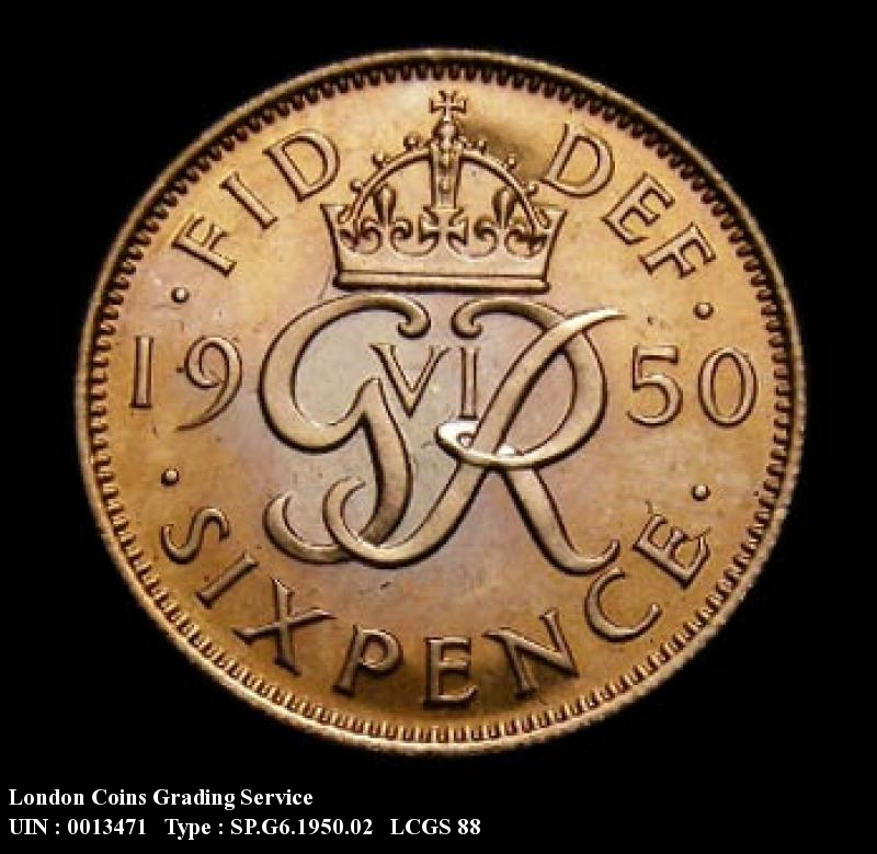 Sixpence 1950 George VI. Proof - Reverse