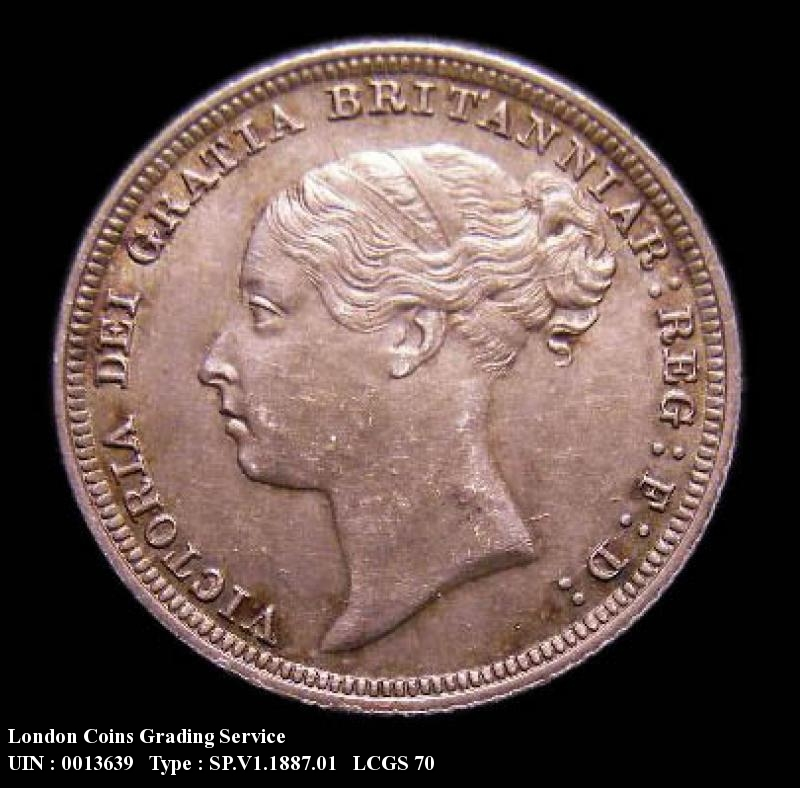 Sixpence 1887 Victoria. Young Head - Obverse
